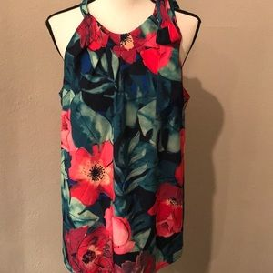 Stunning Tommy Bahama Tropical Print Halter Top XL
